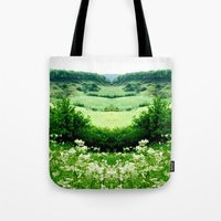 Cow Parsley Valley Tote Bag