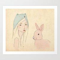 Girl Art Print