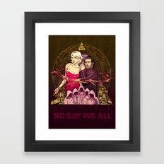 NUMBER SIX Framed Art Print