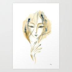 Madame Ochre Art Print