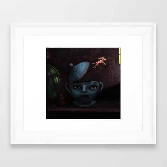 Unlikely Escape. Framed Art Print
