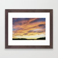 crazy sunset Framed Art Print