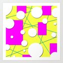 Geo Shape Play in Summertime Colors Art Print