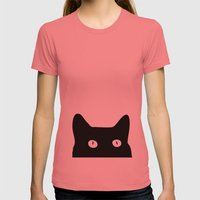 Black Cat Womens Fitted Tee Pomegranate SMALL