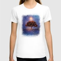 Energy & Lights Womens Fitted Tee White SMALL