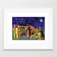 The Christmas Story Shep… Framed Art Print