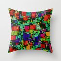 Toon Metropolis Throw Pillow