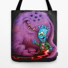 A boy and his Grogg Tote Bag