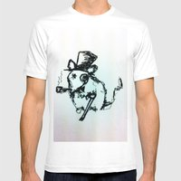 Scribble Mouse Mens Fitted Tee White SMALL