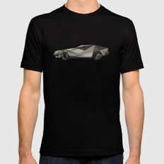 D-LOREAN Mens Fitted Tee Black SMALL