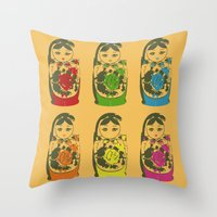 Matryoshka Dolls Throw Pillow