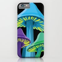 iPhone & iPod Case featuring Alice's Shrooms - Dark by Alice Graphix