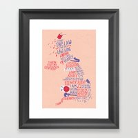 Map of British music  Framed Art Print