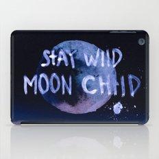 Stay wild moon child (purple) iPad Case