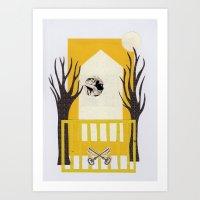House on Fire Art Print