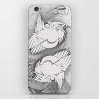 Flying Mysterion (B&W) iPhone & iPod Skin