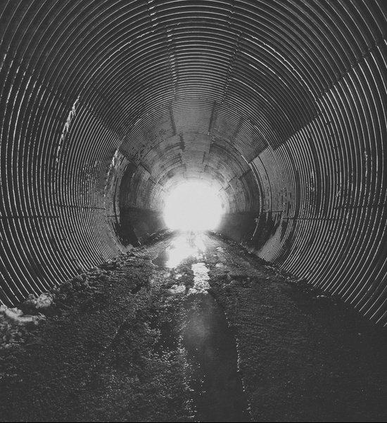 Darkened Tunnel Art Print