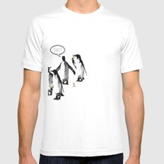 Penguins and Ice Creams White Mens Fitted Tee SMALL