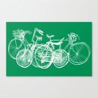 3bikes Canvas Print