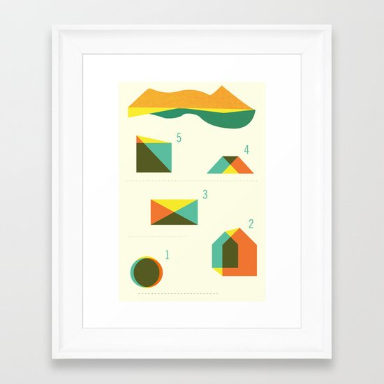 Campground Map Framed Art Print