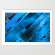 Free Floating Pattern (b… Art Print