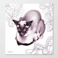 Siamese Champion Cat Canvas Print