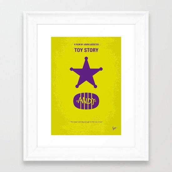 No190 My Toy Story minimal movie poster Framed Art Print