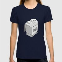 Keyboard Womens Fitted Tee Navy SMALL