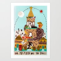 The Postbox Was Too Smal… Art Print