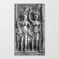 Cambodian Erotic Goddesses Canvas Print
