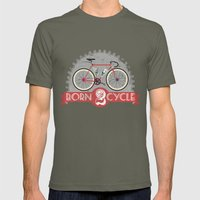 Born To Cycle Mens Fitted Tee Lieutenant SMALL