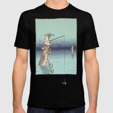 Fishing Mens Fitted Tee SMALL Black
