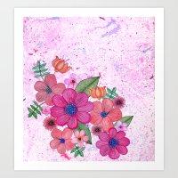 My Pink Garden Art Print