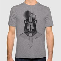 Rooster Mens Fitted Tee Athletic Grey SMALL