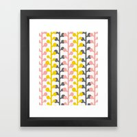 Sprig - Pink Lemonade Framed Art Print