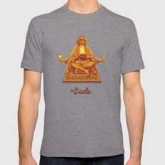 The Lebowski Series: The Dude Mens Fitted Tee Tri-Grey SMALL