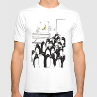penguins in the bedroom Mens Fitted Tee White SMALL