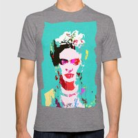 Frida Kahlo Mens Fitted Tee Tri-Grey SMALL
