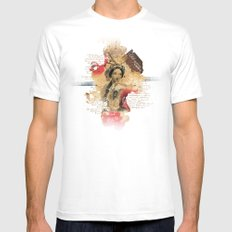 Shakespeare Ladies #1 Mens Fitted Tee SMALL White