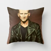 The Ninth Doctor Throw Pillow