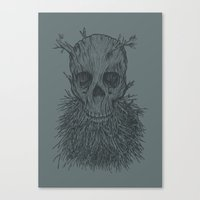 The Lumbermancer (Grey) Canvas Print