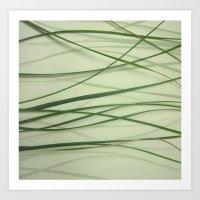 Grass Abstract Art Print