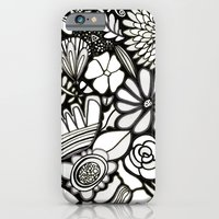 Flowers On The Wall Black & White Edition iPhone 6 Slim Case