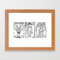 Haunted Clothing-Beetle, Ocean and Tree  Framed Art Print