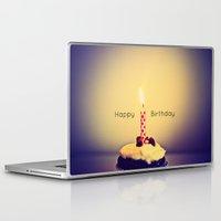 happy birthday Laptop & iPad Skins featuring Happy Birthday by Jo Bekah Photography