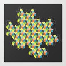 Island of Cubes Canvas Print