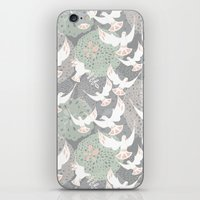 Doves And Flowers iPhone & iPod Skin