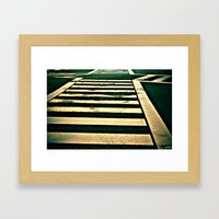 Zebra Crossing Framed Art Print
