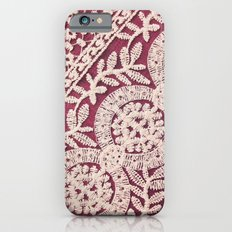 lace on red iPhone 6 Slim Case