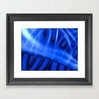 Nothing But Blue #3 Framed Art Print